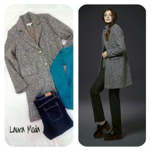 collage mujer abrigo